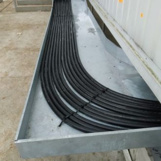 układanie linii kablowych nN